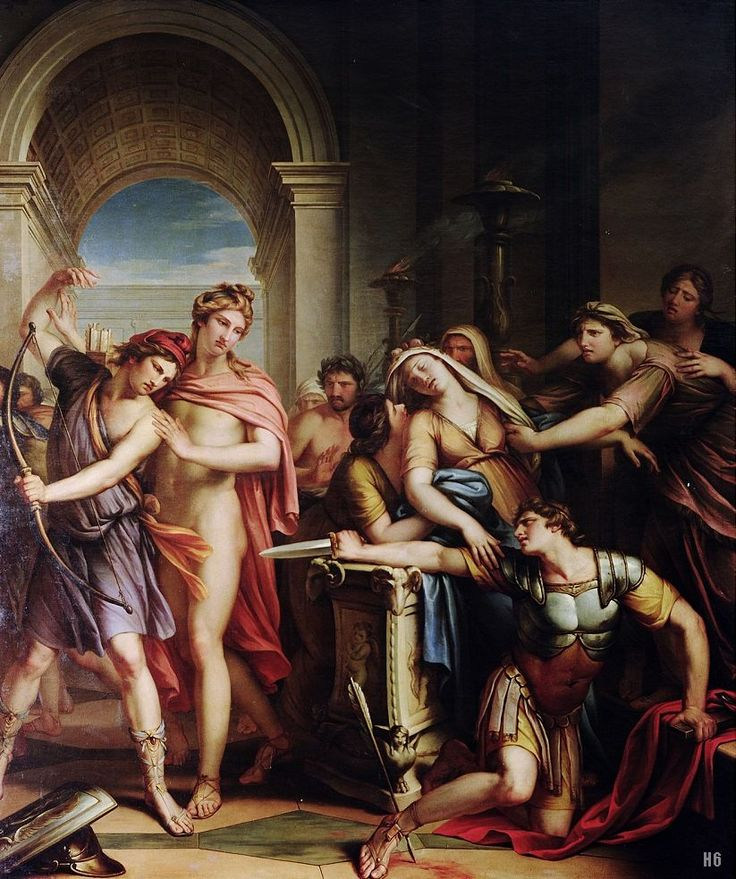 图1-9 The death of Achilles